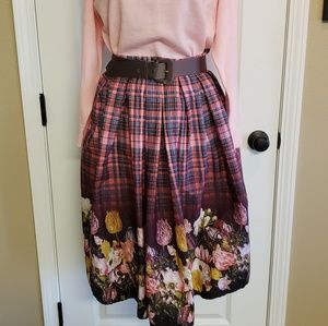 Hell Bunny 50's inspired Skirt Size Medium